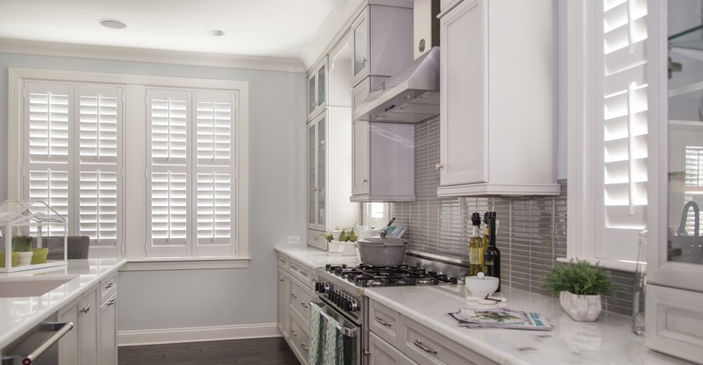 St. George kitchen white shutters