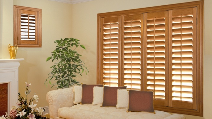 wood shutters St. George living room