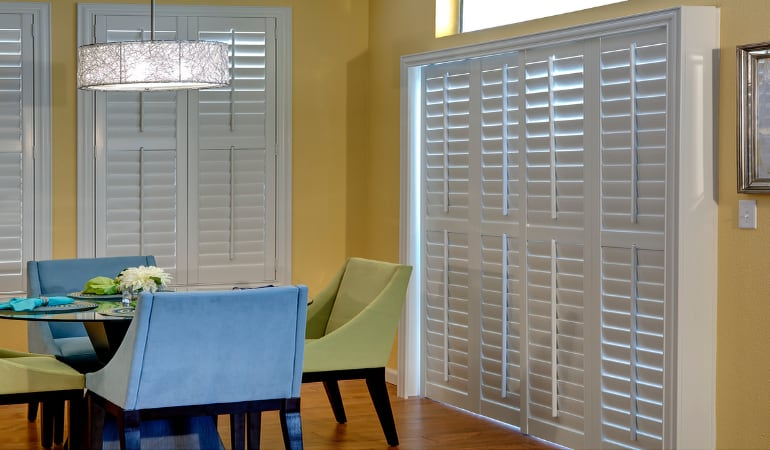 Patio Doors with Plantation Shutters in St. George
