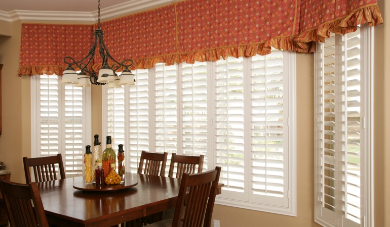 Plantation shutters in St. George dining room.