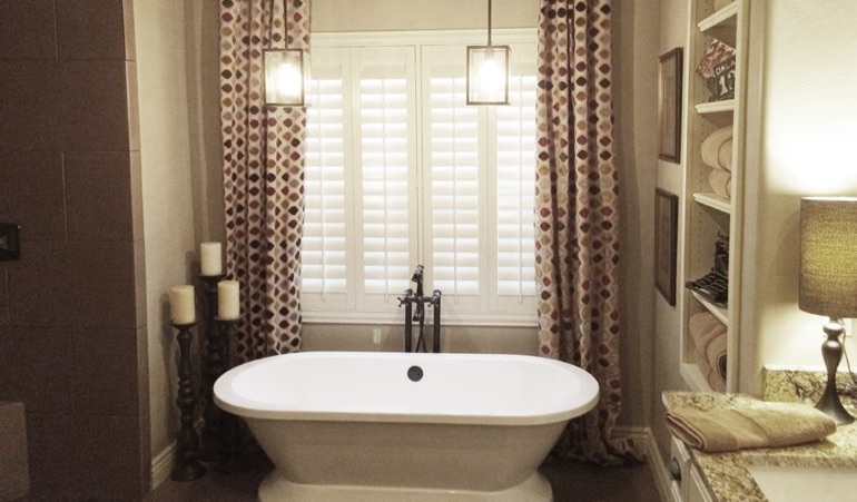 Polywood Shutters in St. George Bathroom