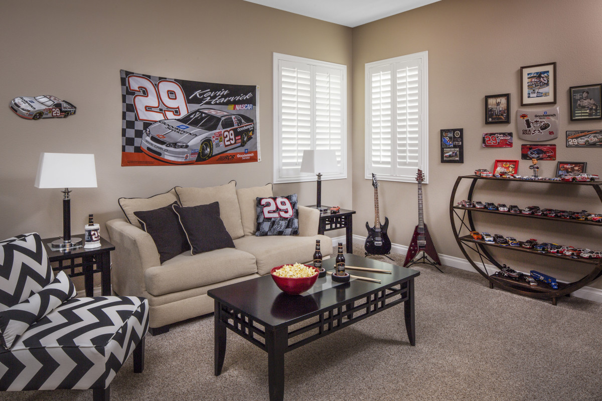 St. George man cave with shutters