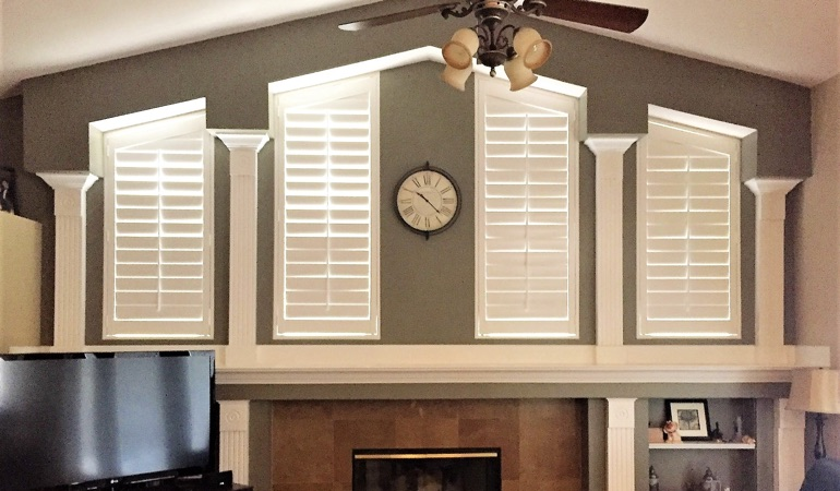 Polywood Shutters in Family Room in St. George