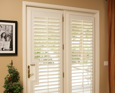 St. George french door shutters