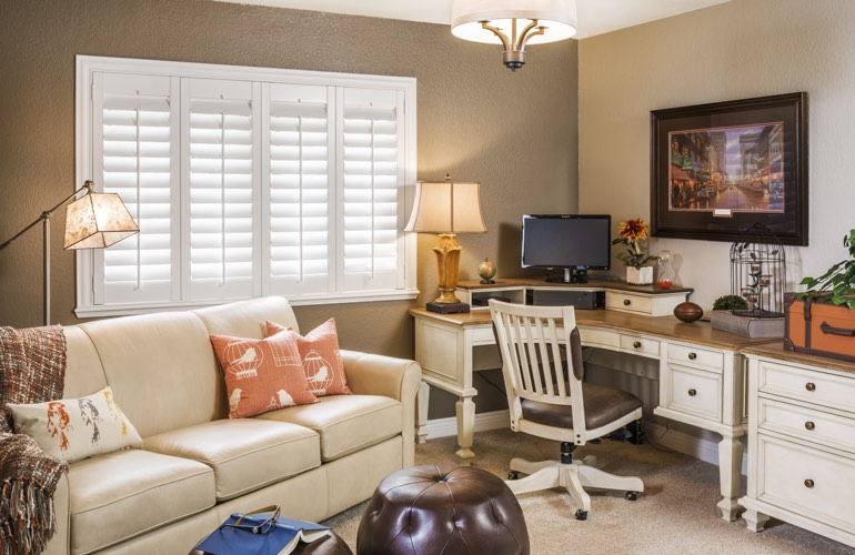 Home Office Plantation Shutters In St. George