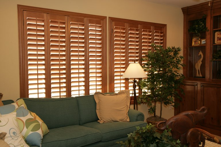 Ovation Shutters In A St. George Living Room.