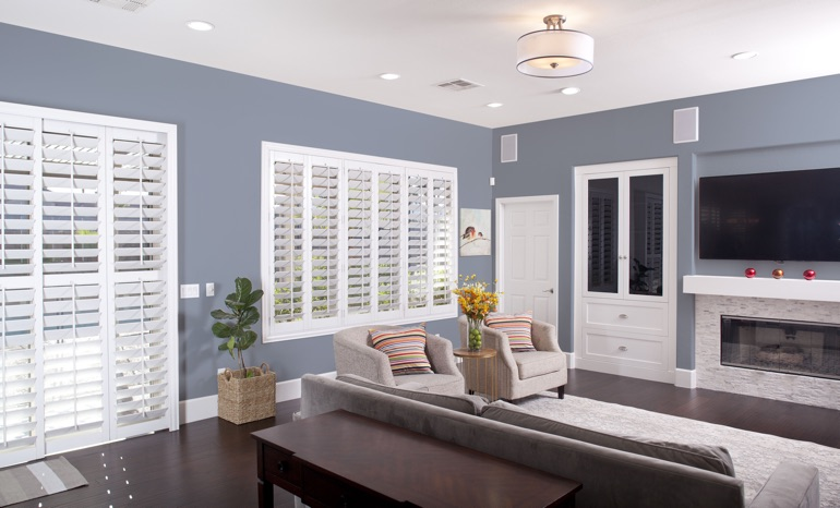 Plantation Shutters In A St. George Living Room.